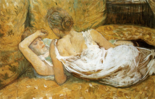 Depictions of Lesbianism by Henri Toulouse Lautrec