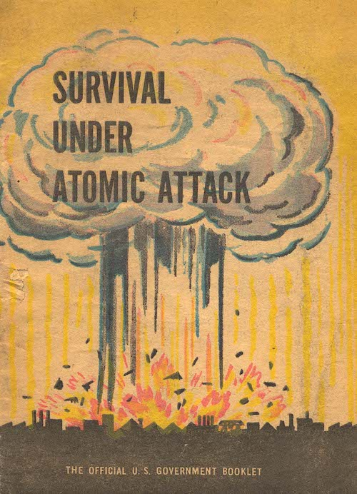 cover of a nuclear preparedness booklet from 1950