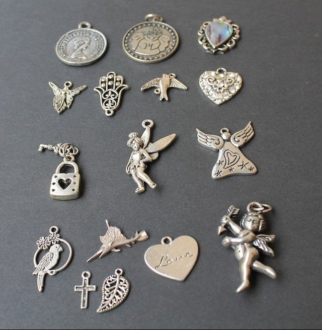an array of charms