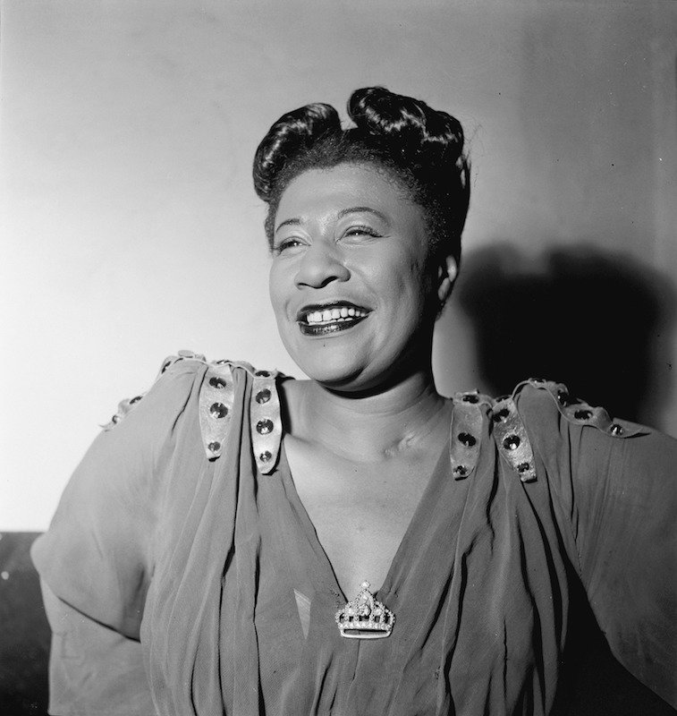 1946 portrat of Ella Fitzgerald by William Gottlieb. Image in the public domain.